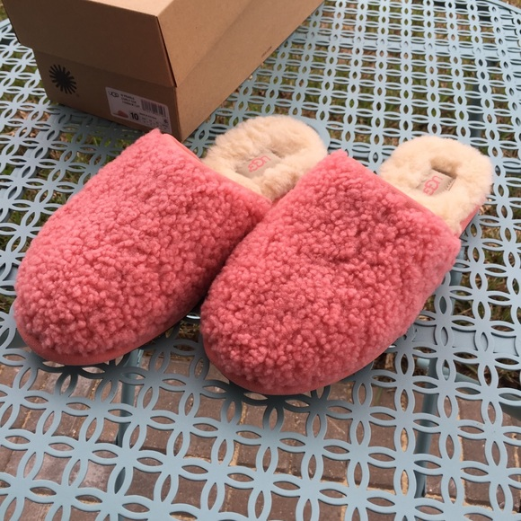 792ef1acddd Ugg Pearle Curly Cue Slippers NWT